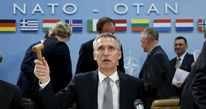 NATO Secretary-General Jens Stoltenberg chairs a NATO defence ministers meeting at the Alliance headquarters in Brussels, Belgium October 8, 2015