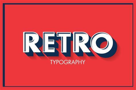 retro typography vector ~ Illustrations ~ Creative Market