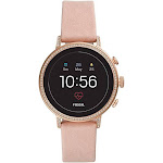 Fossil - Gen 4 Venture HR Smartwatch 40mm Stainless Steel - Rose Gold with Blush Leather Strap Ftw6015
