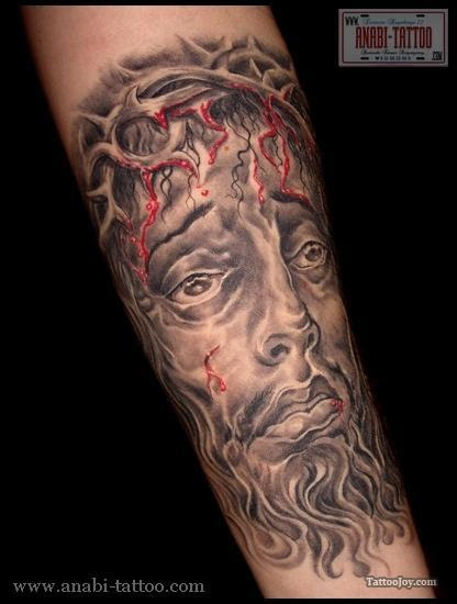 Awesome Jesus Christ Crown Of Thorns Tattoo Tattoomagz