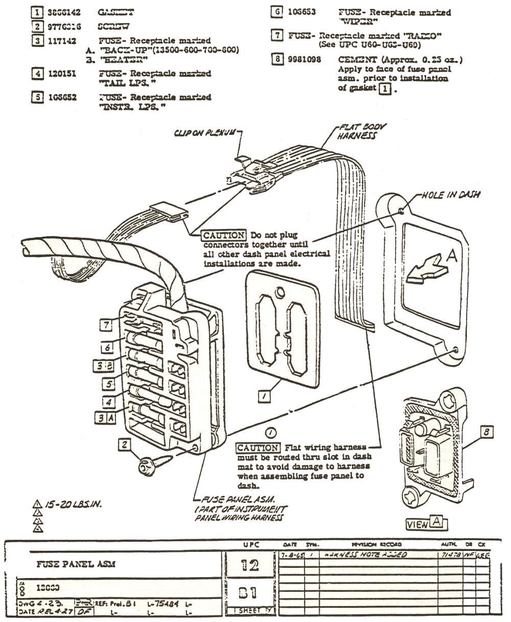 [DIAGRAM] 1965 Chevelle Fuse Block Diagram FULL Version HD