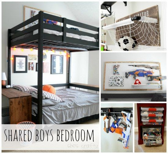 With Full Beds Shared Boys Room: She's Crafty: Home Tour