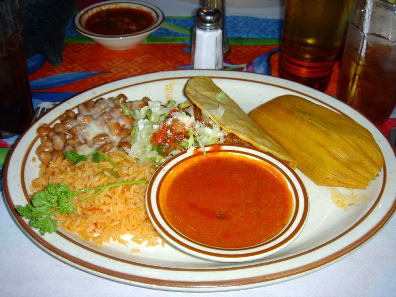 Beef Taco and Tamale Combo
