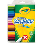 Crayola Super Tips - Marker - non-permanent - assorted colors - pack of 20