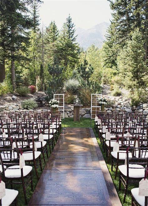 Sundance Resort outdoor wedding ceremony   Alixann Loosle