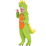 Rubies Costumes Cute Lil Dinosaur Toddler Costume, Green/Orange