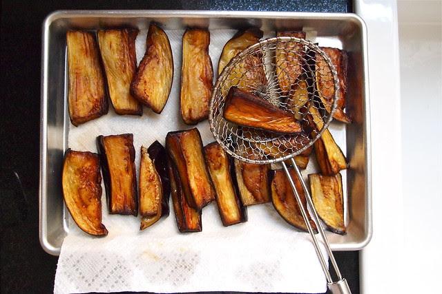 Deep-fried eggplant