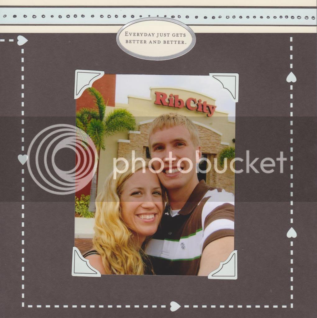 honeymoon scrapbook {Breezy Pink Daisies}