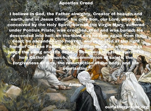 Apostles Creed Catholic Prayer - Symbol of the Apostles