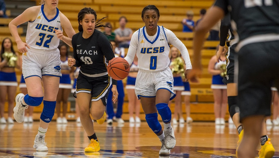 Danae Miller's 20 points, five assists, and four steals were crucial in the Gauchos' 71-52 win over UC Irvine on Saturday. (Photo by Tony Mastres)