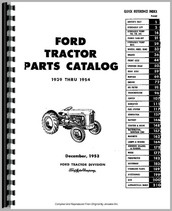 Ford 9n Tractor Part Wiring