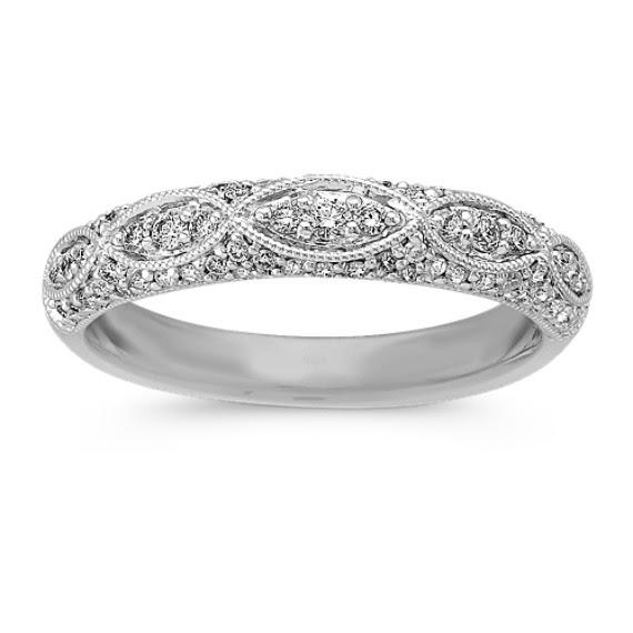 Diamond Wedding Bands Vintage Inspired