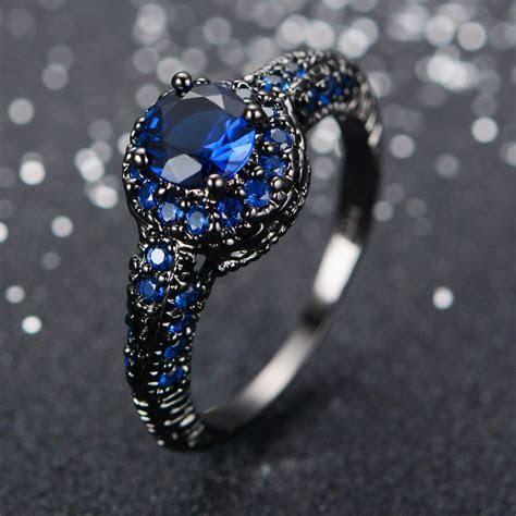 Blue Engagement Ring For Women   jagfox.com