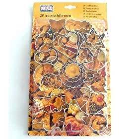Kaiser 612911 stampini per biscotti 25 pezzi assortiti for Accessori decorativi