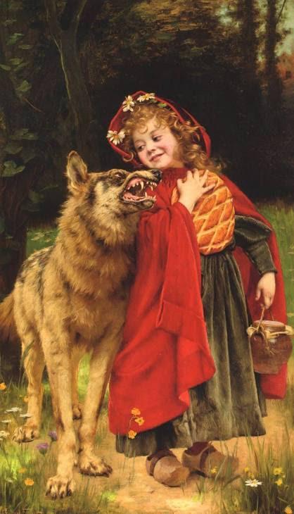 Gabriel Ferrier. Красная Шапочка и волк / Little Red Riding Hood