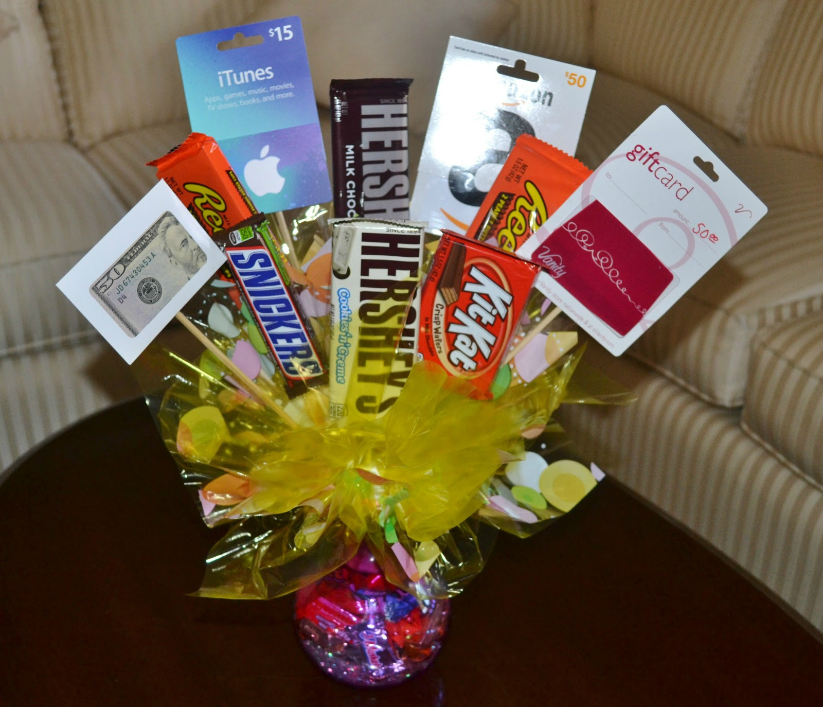 Gift Basket Ideas Using Gift Cards Gift Card Lottery Ticket Basket