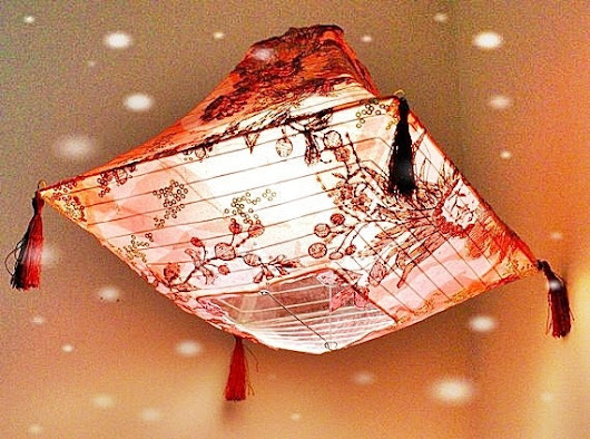 Stunning Home Decor. Red Lantern, Light Shade.  INCLUDES Lantern Light. Hang ANYWHERE
