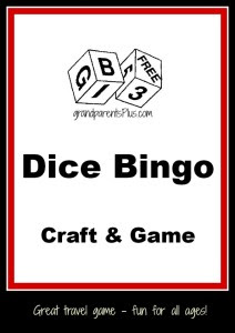 Dice Bingo Craft and Game by: GrandParents Plus