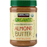Kirkland Signature Organic Creamy Almond Butter, 27 oz