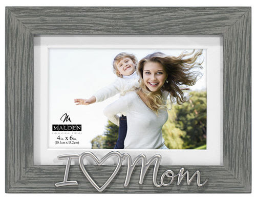 I Love Mom Distressed Photo Frame Athena Posters