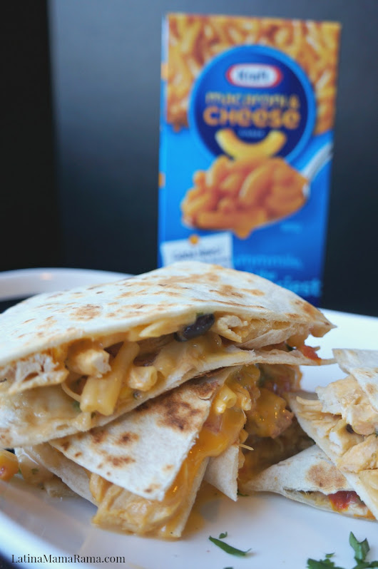 Macaroni & Cheese Southwest Quesadilla - Latina Mama Rama