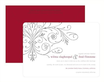 Wedding Invitations - Digital - Scroll of Hearts - 100 sets