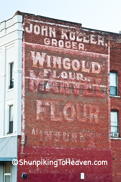 Wingold/Marvel Flour Ghost Sign, La Crosse County, Wisconsin