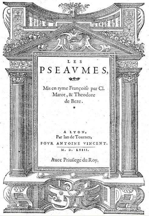 Psautier 1563