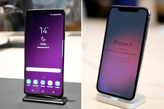 People are trading in their iPhones in droves to buy a Samsung Galaxy S9