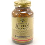 Solgar Biotin 5000 mcg - 100 Vegetable Capsules