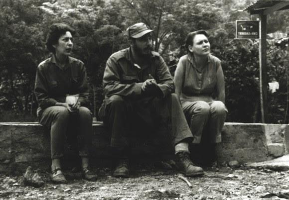 Celia, Fidel y Haydeé.