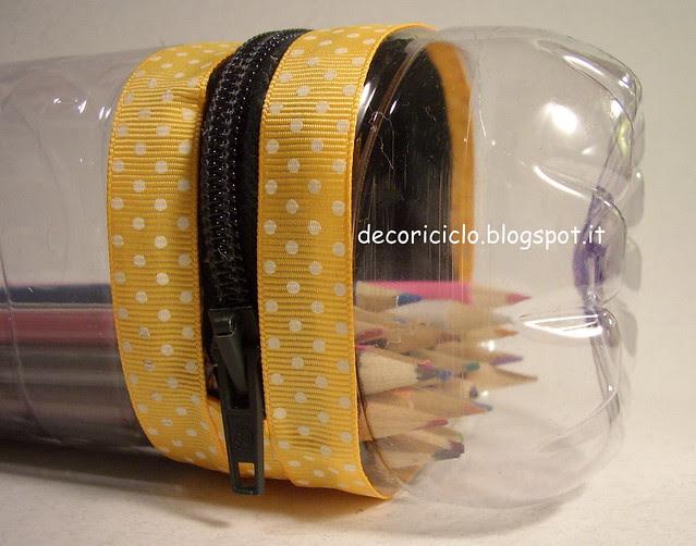 porta-matite bottiglia di plastica 8