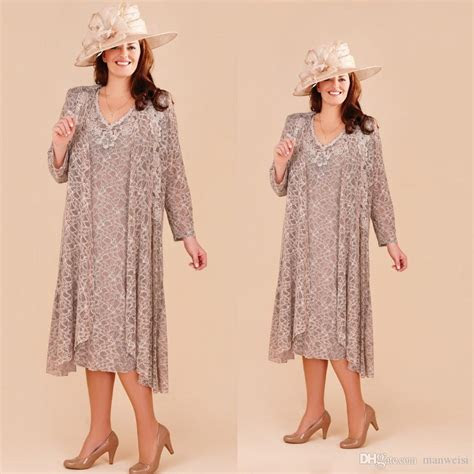 Plus Size Mother Of The Bride Dresses With Long Jacket