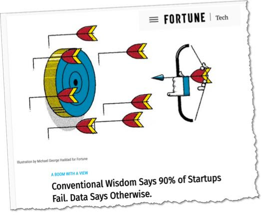 Do You Believe the Legendary Startup Failure Statistics. I Don't. - Planning, Startups, Stories