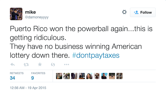 Boricua Twitter Schools the Ignorant About Another Winning Powerball from PR