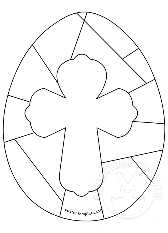 Easter Christian Easter Egg Cross | Easter Template
