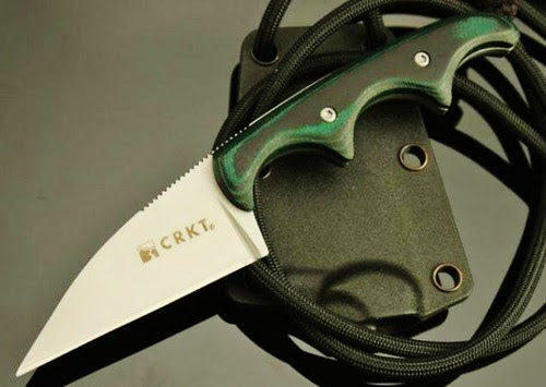 """Columbia River Folts Minimalist Neck Knife 2"""" Wharncliffe Blade"""