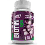 Just Potent Biotin Supplement for Hair, Skin, and Nails :: 10000 mcg :: 150 Capsules :: 5 Month