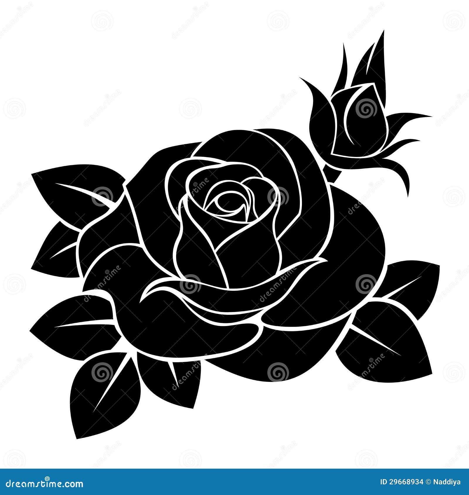 knumathise: Rose Black And White Outline Images
