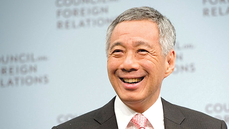 Singapore PM Lee Hsien Loong here on Monday
