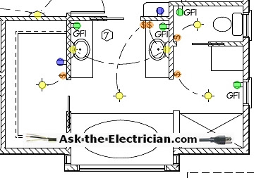 Home electrical wiring diagram blueprint home wiring and home electrical wiring diagram blueprint bathroom blueprint and wiring design layout electrical wiring diagram bathroom asfbconference2016 Gallery