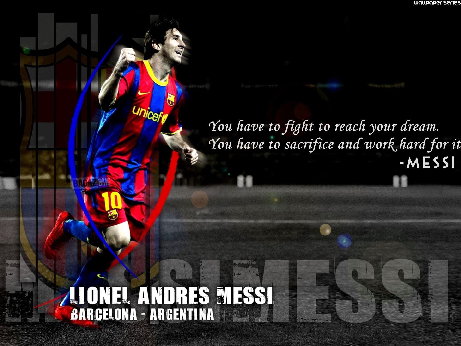 Lionel Messi Dream Motivational Quotes Wallpaper 10735 Baltana