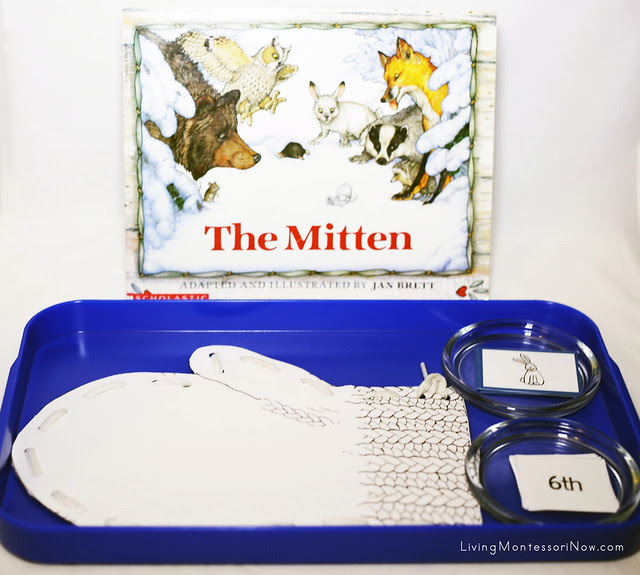 The Mitten Lacing, Sequencing Cards, and Putting Animals in the Mitten