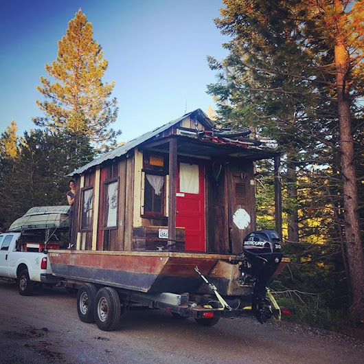 Shantyboat in the Sierra Nevada Mountains