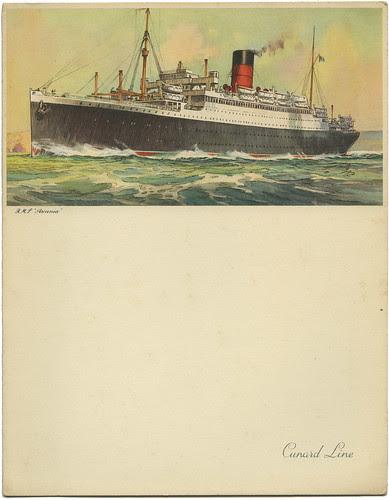 Cunard Menu RMS Ascania_April 17, 1954_tatteredandlost