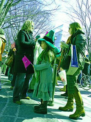 St Patrick's Day Parade in Omotesando, Tokyo