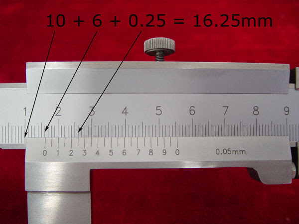 hot to read vernier calipers