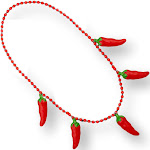 Blinkee NLUFJCCPN Non Light Up Five Jumbo Charm Chili Pepper Necklace for Cinco De Mayo