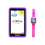 "LINSAY 7"" 16GB Android Kids Tablet Bundle w/ Kids Smart Watch Purple (F7KPWP)"