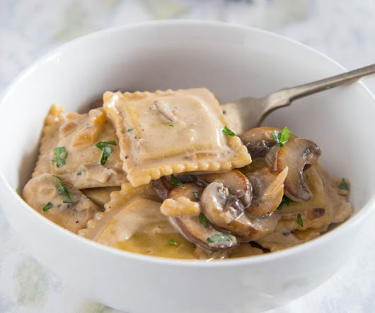 Beef Stroganoff Ravioli Skillet - Dinners, Dishes, and Desserts